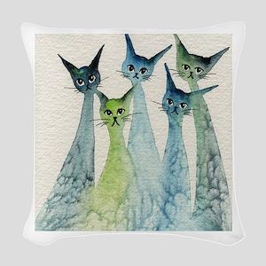 Lakeland Stray Cats Woven Throw Pillow