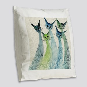 Lakeland Stray Cats Burlap Throw Pillow