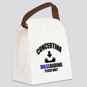 Concertina Skills Loading Please Canvas Lunch Bag