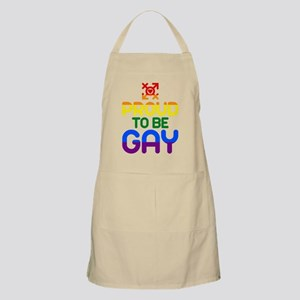Proud to be Gay (colored) Apron