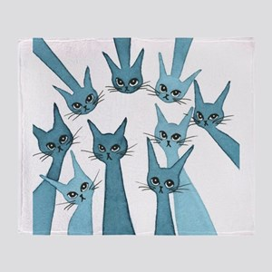 Lucca Stray Cats Throw Blanket