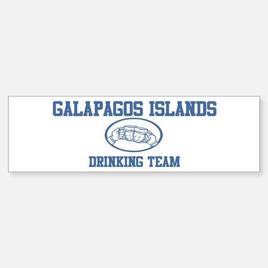 GALAPAGOS ISLANDS drinking te Bumper Bumper Bumper Sticker