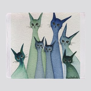 Hilo Stray Cats Throw Blanket