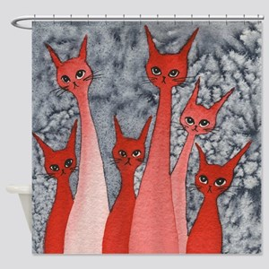 Oklahoma Stray Cats Shower Curtain