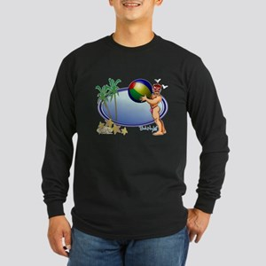 Beach Ball Long Sleeve Dark T-Shirt