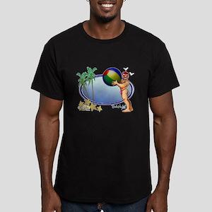 Beach Ball Men's Fitted T-Shirt (dark)