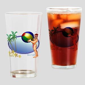 Beach Ball Drinking Glass