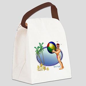 Beach Ball Canvas Lunch Bag