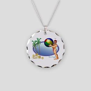 Beach Ball Necklace Circle Charm