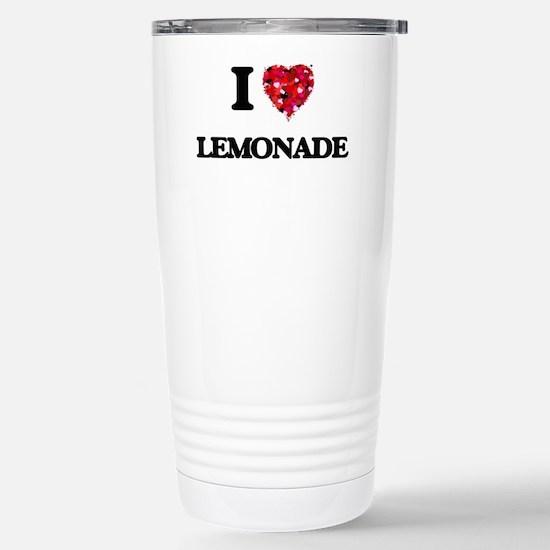 I Love Lemonade Stainless Steel Travel Mug