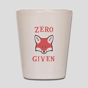 Zero (Fox) Given Shot Glass