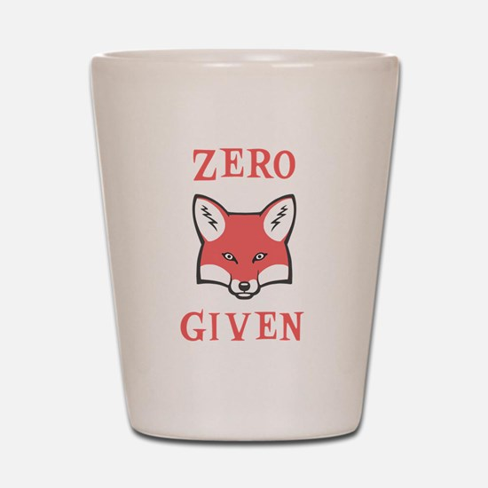 Zero (Fox) Given Shot Glass