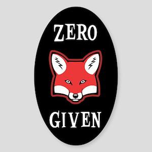 Zero (Fox) Given Sticker (Oval)