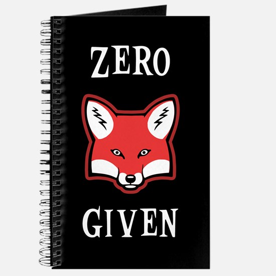 Zero (Fox) Given Journal