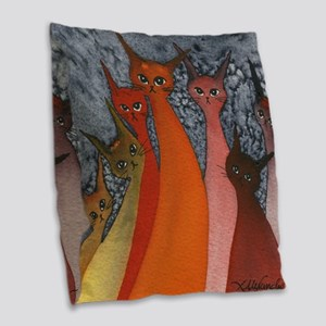 Casablanca Stray Cats Burlap Throw Pillow