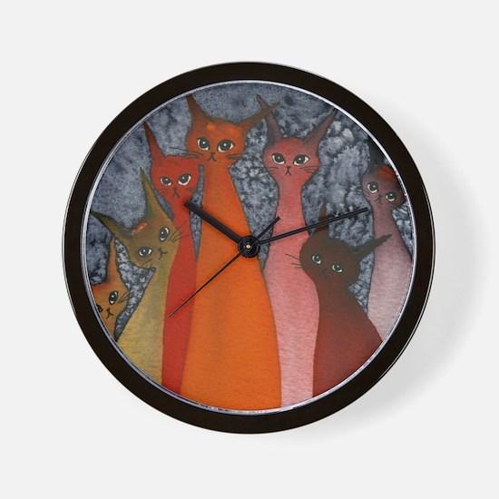 Casablanca Stray Cats Wall Clock