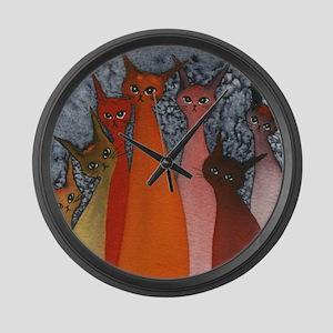 Casablanca Stray Cats Large Wall Clock