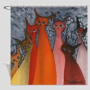 Casablanca Stray Cats Shower Curtain