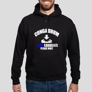 Conga drum Skills Loading Please Wai Hoodie (dark)