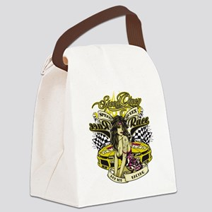 Speed Queen Pin-Up Canvas Lunch Bag