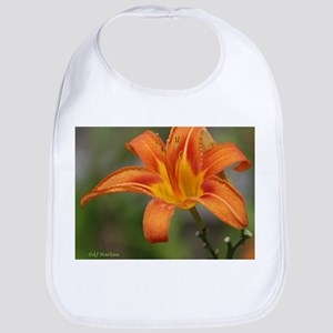 Orange Day Lily Bib