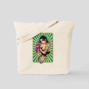 Tattooed Game Pin-Up Girl V2 Tote Bag