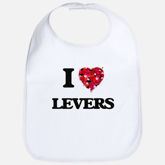I Love Levers Bib