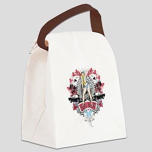 Sailor Pin Up Girl - Mustang Car  Canvas Lunch Bag