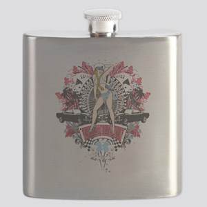 Sailor Pin Up Girl - Mustang Car Show No.01 Flask