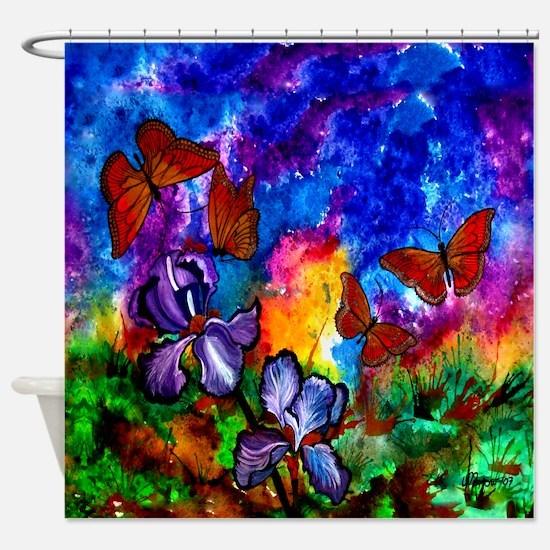 Monarchs At Sunset Shower Curtain