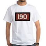 190 sign White T-Shirt