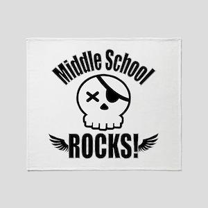 Middle School Rocks Throw Blanket