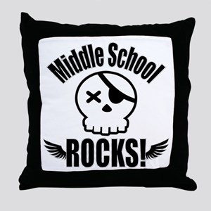 Middle School Rocks Throw Pillow