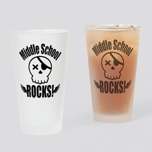 Middle School Rocks Drinking Glass