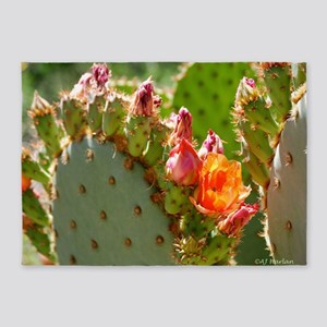 Prickly Pear Blooms 5'x7'Area Rug