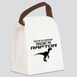 Save a Horse, Ride a Raptor Canvas Lunch Bag