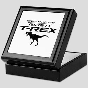Save a Horse, Ride a T-Rex Keepsake Box
