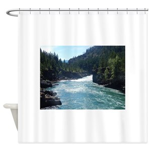 Summer Forest River Shower Curtains