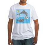Shark Jumping Fitted T-Shirt
