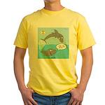 Shark Jumping Yellow T-Shirt