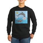 Shark Jumping Long Sleeve Dark T-Shirt