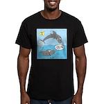 Shark Jumping Men's Fitted T-Shirt (dark)