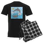 Shark Jumping Men's Dark Pajamas