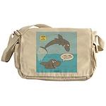 Shark Jumping Messenger Bag