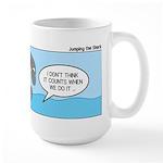Shark Jumping Large Mug