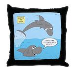 Shark Jumping Throw Pillow