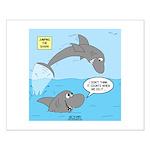 Shark Jumping Small Poster