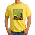 Airline Baggage Fees Yellow T-Shirt