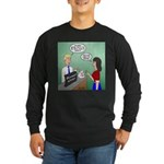 Airline Baggage Fees Long Sleeve Dark T-Shirt