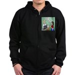 Airline Baggage Fees Zip Hoodie (dark)